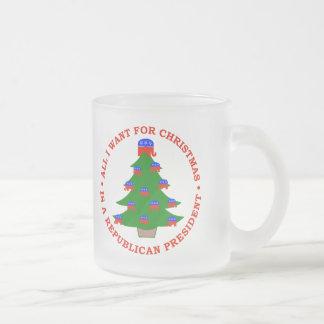 Lo único que quiero para el navidad es presidente taza de cristal