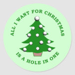 Lo único que quiero para el navidad es un agujero pegatinas redondas