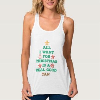 Lo único que quiero para el navidad es un buen playera de tirantes cruzados holgada