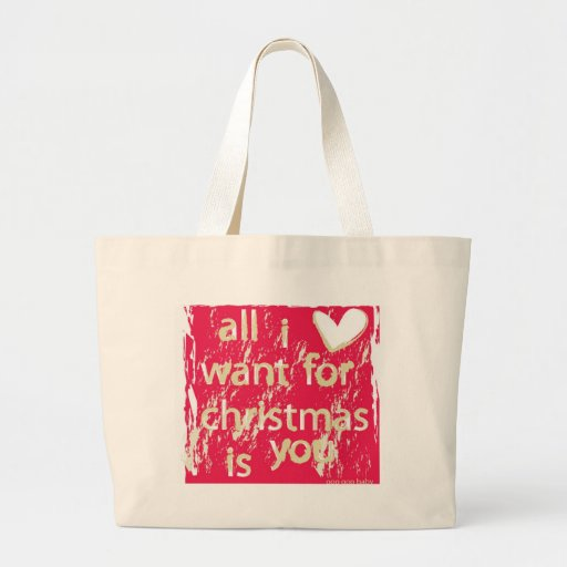 ¡Lo único que quiero para el navidad es usted! Bolsa