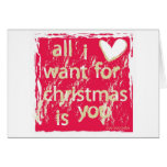 ¡Lo único que quiero para el navidad es usted! Felicitacion