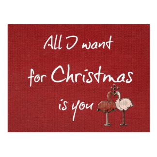 Lo único que quiero para el navidad es usted postal