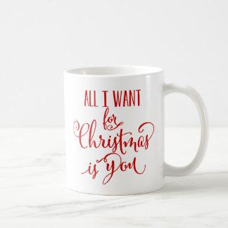 Lo único que quiero para el navidad es usted taza clásica