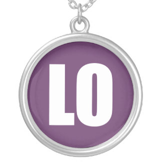 LO(VE) ROUND PENDANT NECKLACE