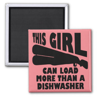 Load More Than A Dishwasher Funny Fridge Magnet