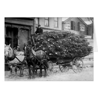 Load of Xmas Trees, 1910 Greeting Card