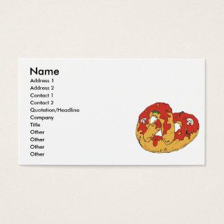 loaded hot soft pretzel business card