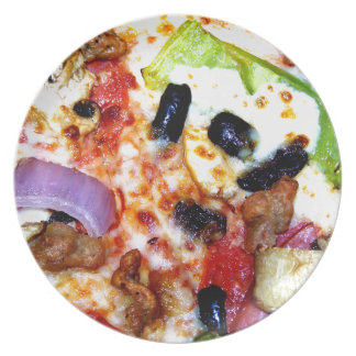 Loaded Pizza Melamine Plate
