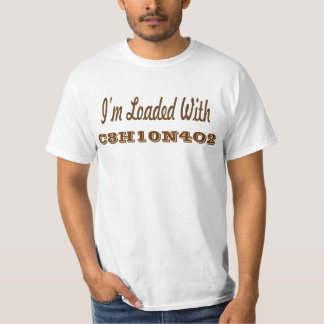 Loaded with caffeine. tshirts