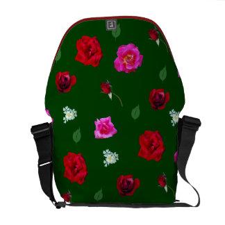 Loaded with Roses rickshaw messengerbag Courier Bag