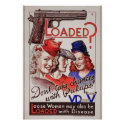 """Loaded with VD"" vintage World War II STD poster"