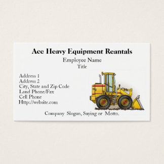 Loader Business Cards
