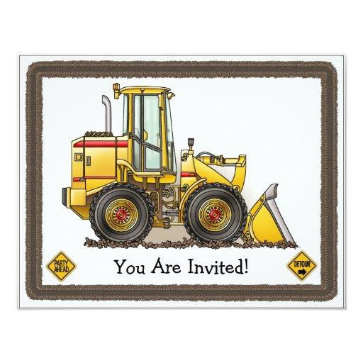 "Loader Kids Party Invitation 4.25"" X 5.5"" Invitation Card"