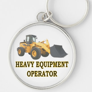 LOADER Silver-Colored ROUND KEYCHAIN