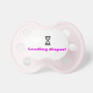 Loadin Diaper pink 2 Pacifier