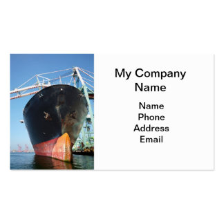 Loading A Large Cargo Vessel Business Card Template