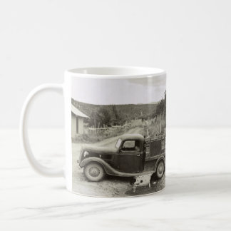 Loading a mower – 1940. coffee mug