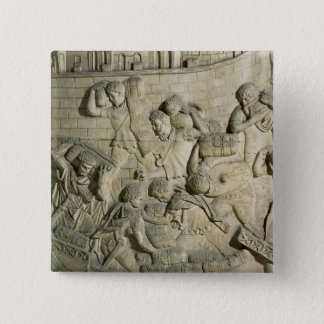Loading a ship, detail from cast of Trajan's Pinback Button