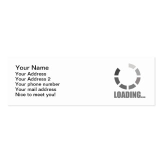 Loading bar Double-Sided mini business cards (Pack of 20)