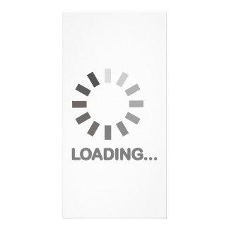 Loading bar internet photo greeting card
