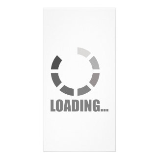 Loading bar photo greeting card
