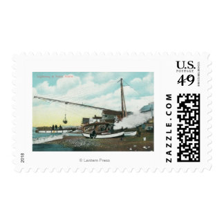 Loading Barge for SeaNome, AK Postage Stamp