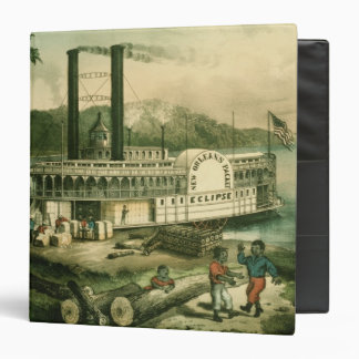 Loading Cotton on the Mississippi, 1870 3 Ring Binder