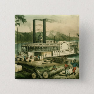 Loading Cotton on the Mississippi, 1870 Button