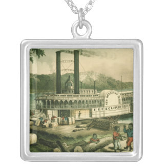 Loading Cotton on the Mississippi, 1870 Custom Necklace