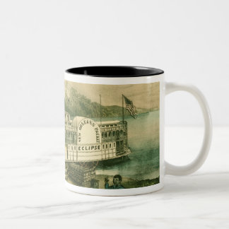 Loading Cotton on the Mississippi, 1870 Two-Tone Coffee Mug