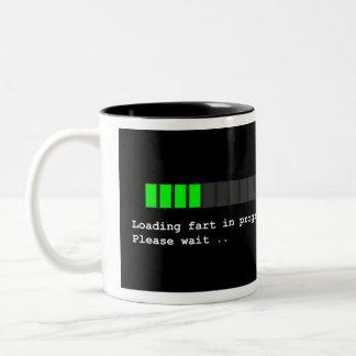 Loading Fart in Progress Two-Tone Coffee Mug