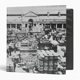Loading Fruit at Covent Garden Market, 1900 3 Ring Binder