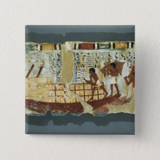Loading grain, from the Tomb of Unsou, East Pinback Button