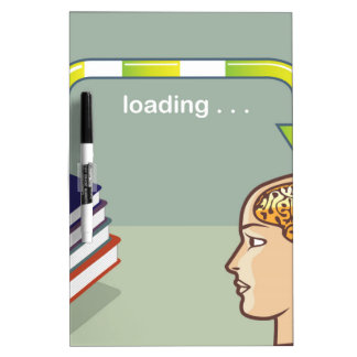 Loading Knowledge from books into the mind Dry-Erase Board