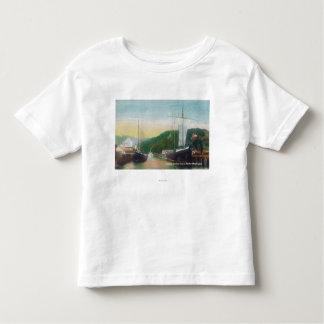 Loading Lumber on Schooners Scene Toddler T-shirt
