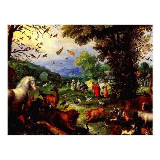 Loading of Animals Postcard