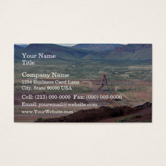 Loading of iron ore on the train business card