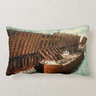 Loading Ore at Duluth-Superior Harbor Vintage Pillows