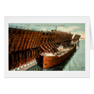 Loading Ore in Duluth-Superior Harbor Card