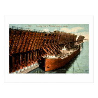 Loading Ore in Duluth-Superior Harbor Postcard
