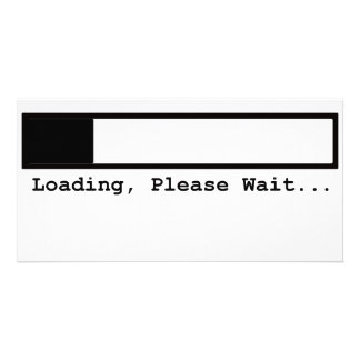 Loading, Please Wait.... Photo Greeting Card