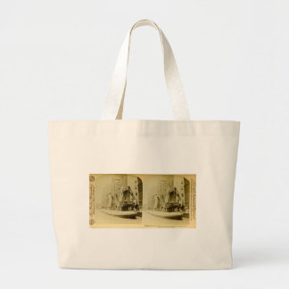 Loading the Great Whaleback, Chicago, Illinois Tote Bags
