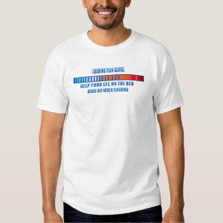 LoadingT-Camisa del indicador del dolor Polera
