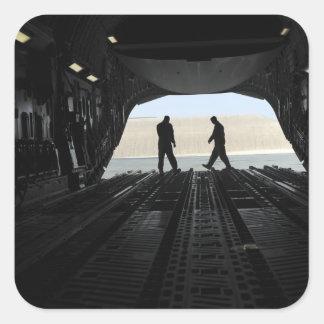 Loadmasters de C-17A Globemaster III Pegatina Cuadrada