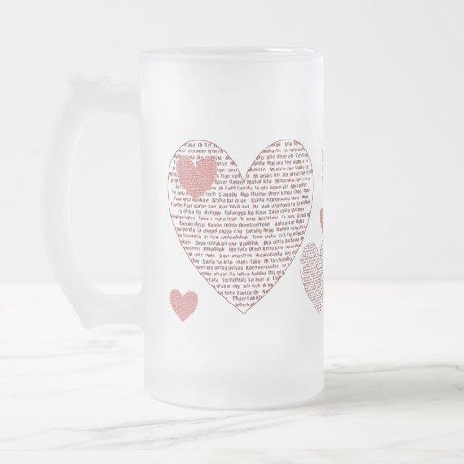 Loads Of  Love 16 Oz Frosted Glass Beer Mug
