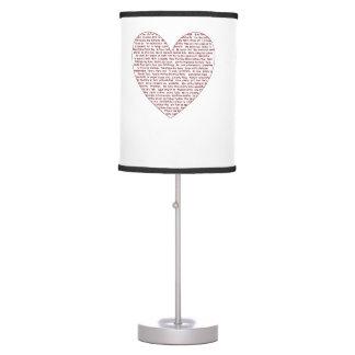 Loads Of  Love Desk Lamp