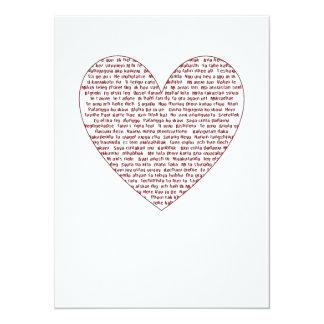 Loads Of  Love 5.5x7.5 Paper Invitation Card