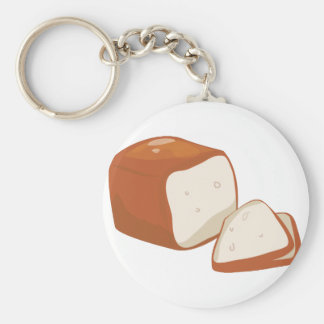 Loaf of Bread Basic Round Button Keychain