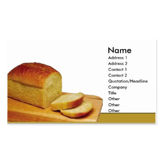 Loaf of bread business card template