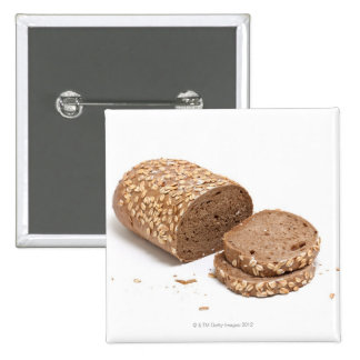 Loaf of bread pinback button